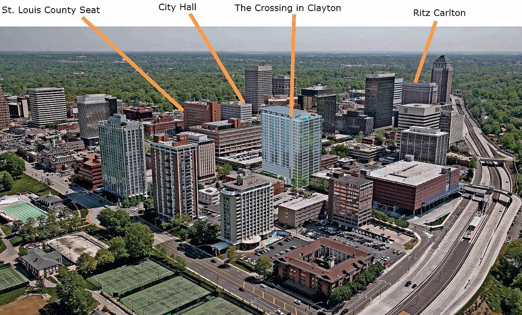 $72M Twenty-Four Story The Crossing in Clayton Receives Tax Abatement
