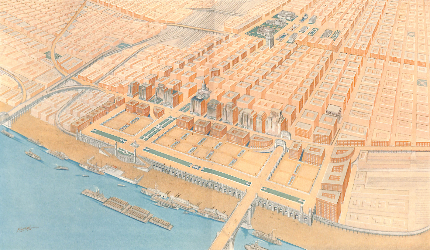 A Plan for the Central River Front – St. Louis, 1928