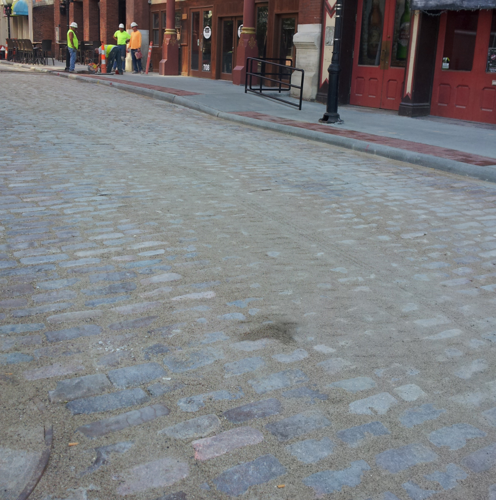 Laclede's Landing cobble renovation