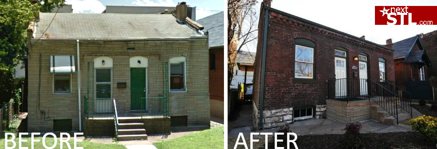 Brick bungalow before_after