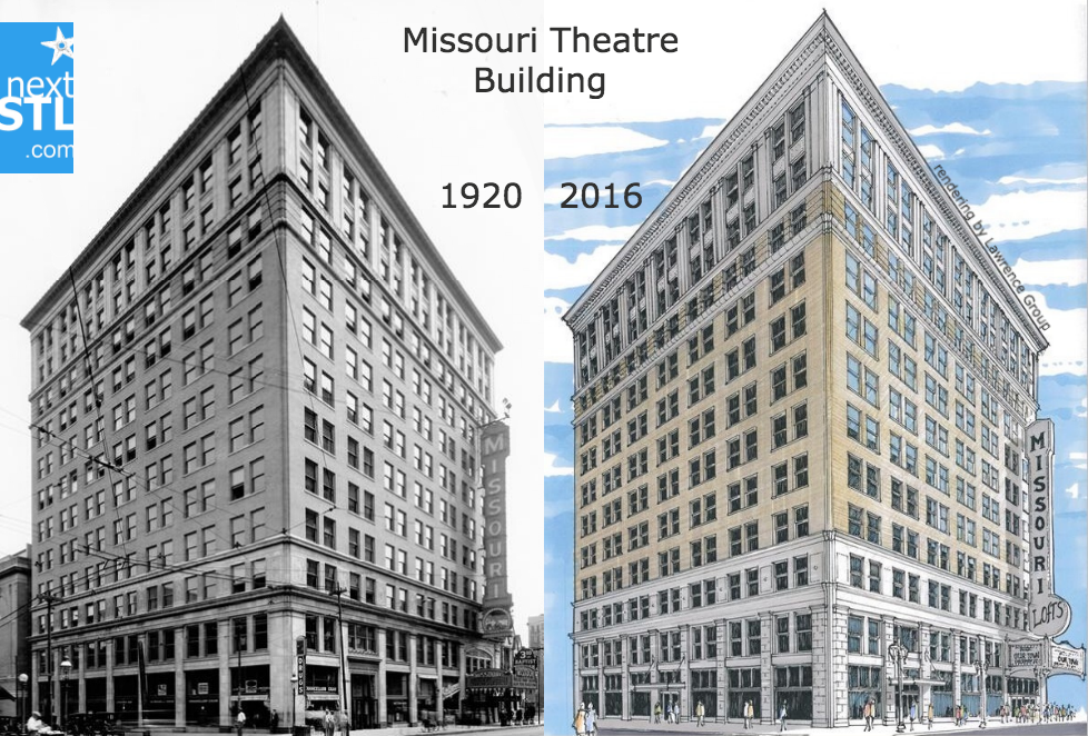 Missouri Theatre Building before_after