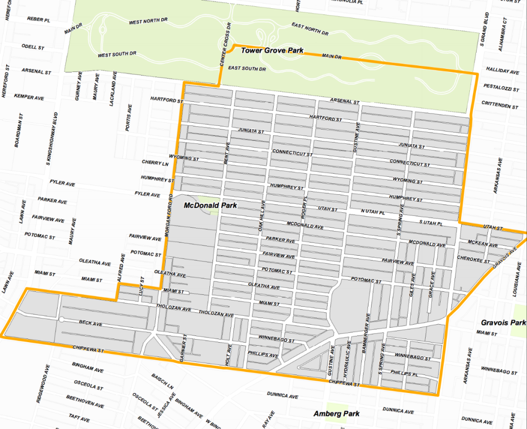 15th Ward map