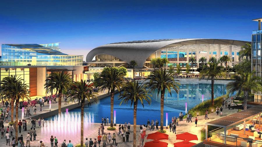 Rams NFL stadium site - Inglewood, CA