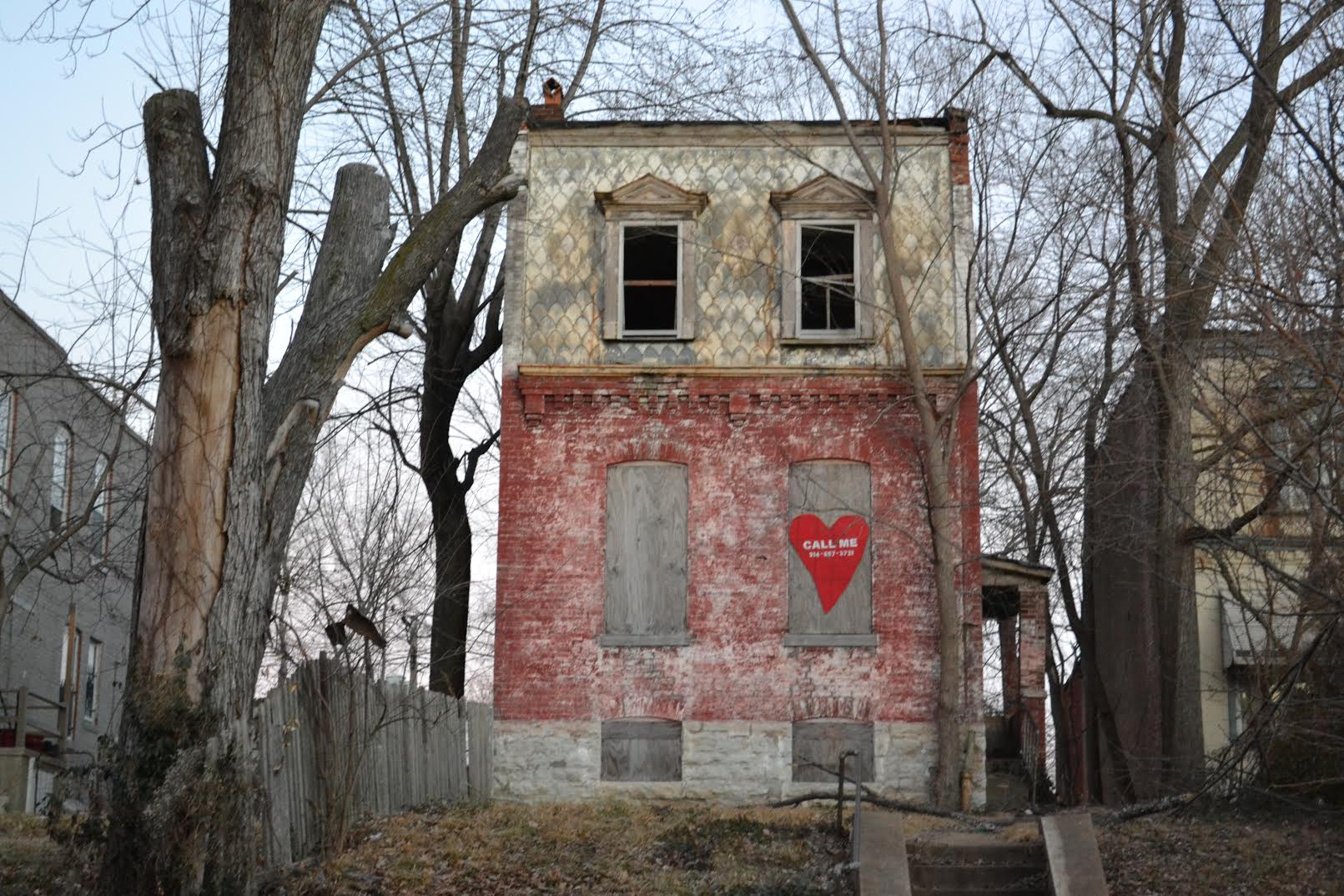 Valentines for vacant buildings - St. Louis, MO 2015