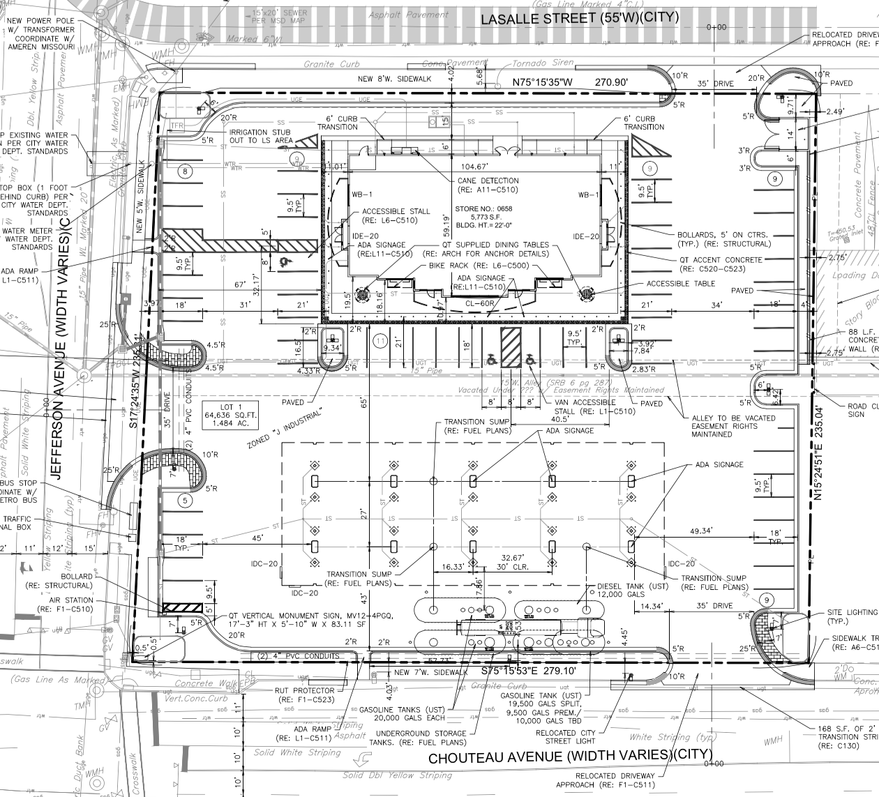 QuikTrip proposal site plan - St. Louis, MO