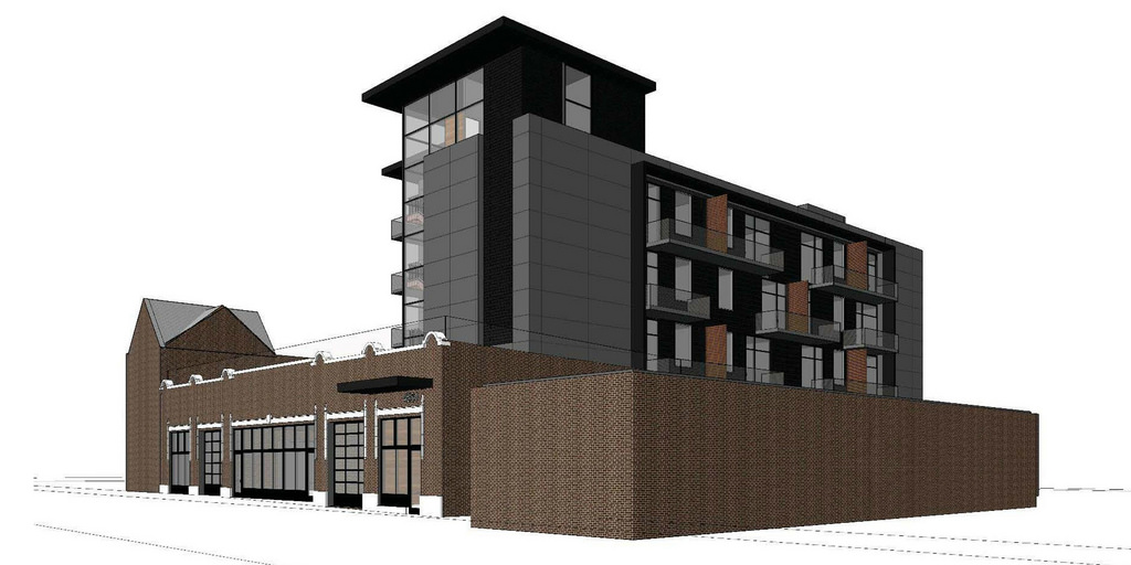 Mixing New and Old, 33 Apartments and 3,000 Sq Ft of Retail Coming to 4528 Olive