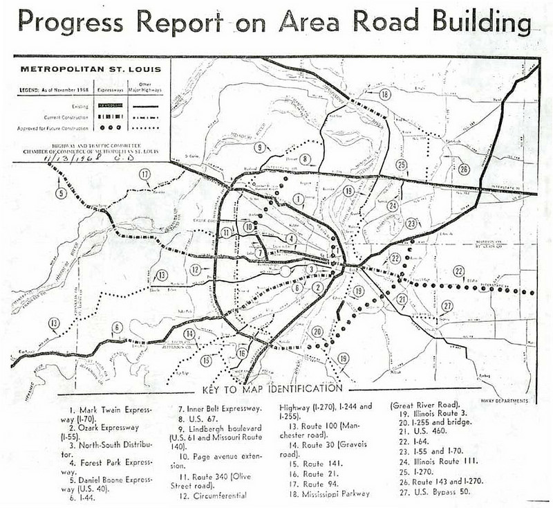 Progress Report on Area Road Building.