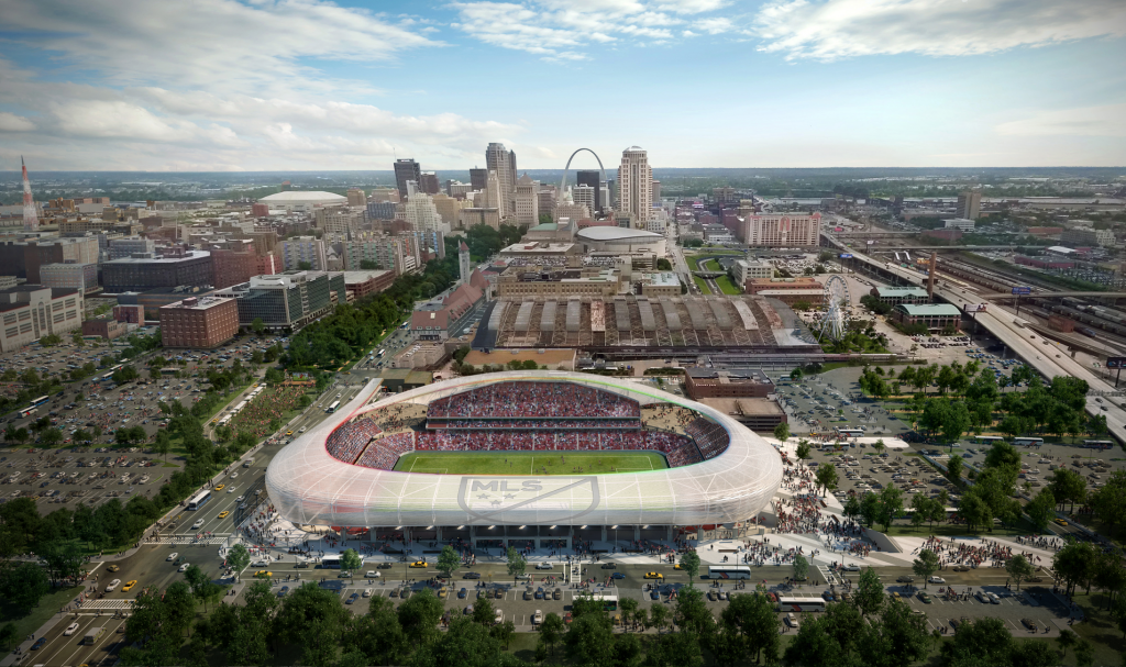 1_sc_stl_aerial_to_east_sports_culture_entertainment_corridor_credit_hok