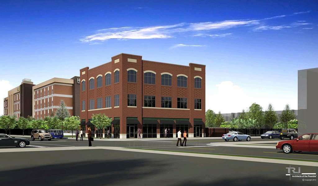 Developer Updates Hilton Hotel Site Plan for The Grove, Pagano Plans Townhomes