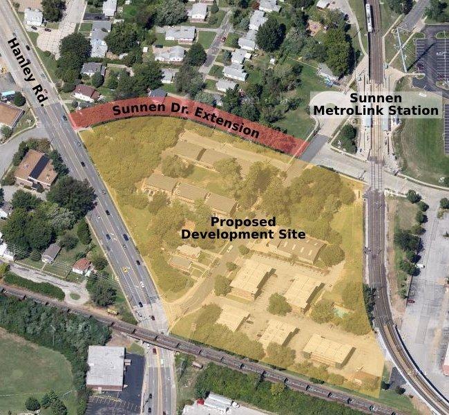 Car Dealer, Parking Lot to Anchor TOD Development at Sunnen Metro Station