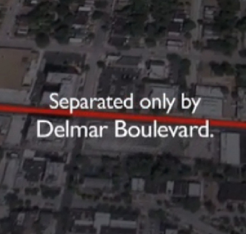 The BBC Looks at Delmar: Crossing a St Louis street that divides communities