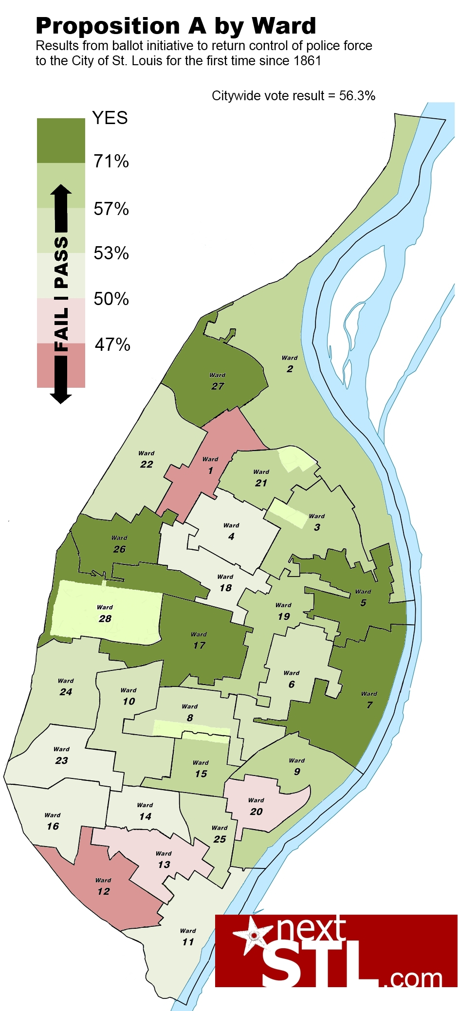 Understanding St. Louis: Proposition A by Ward