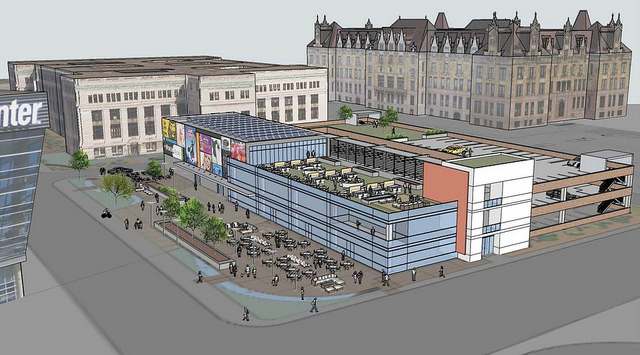 Municipal Courts Redevelopment Envisions Civic Square, Public Space, Retail and Parking