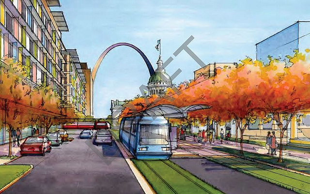 7-mile Streetcar Envisioned to Connect Old North, Downtown, Midtown and Central West End