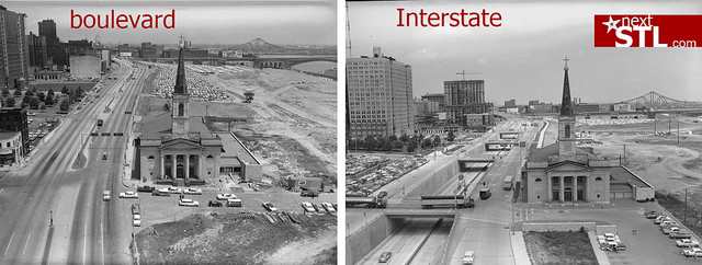 One Image to Help Explain the Boulevard v. I-70 Issue in St. Louis