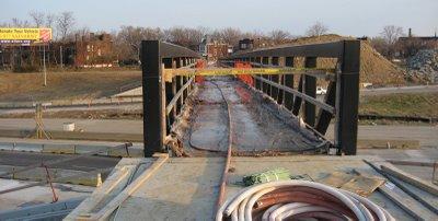 Footbridge work moving quickly