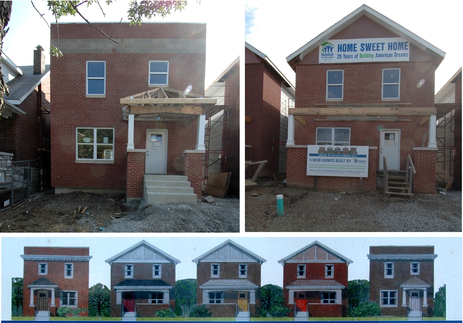 Habitat for Humanity Brings Five New Single Family Homes to Carondelet (1020 through 1032 Bates)