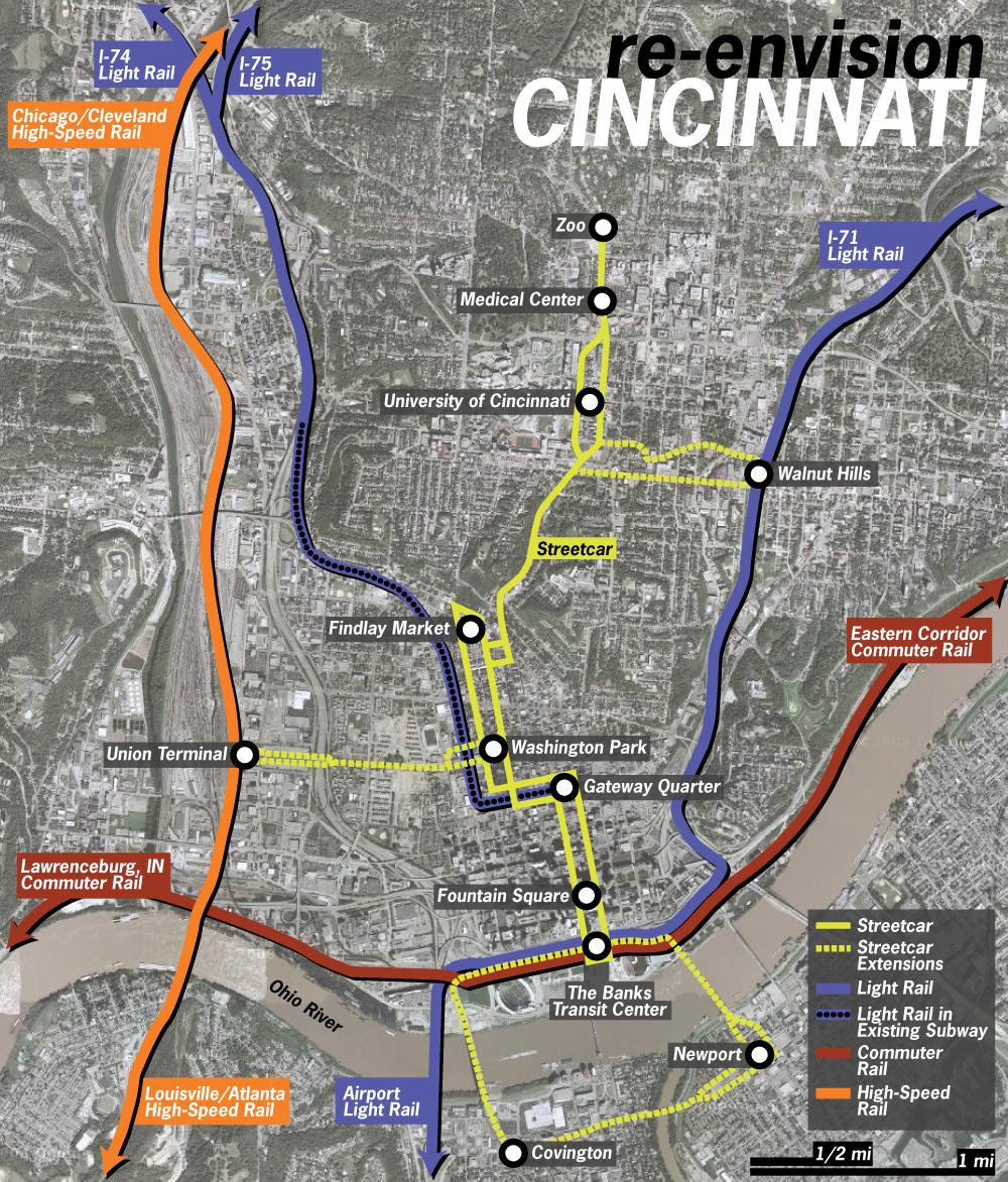 Cincinnati Battles Myopic Anti-Subsidy Crowd In Bid to Build Streetcar, Makes St. Louis Look Progressive