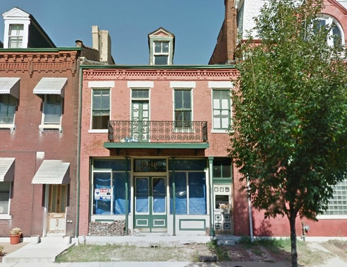 Old North St. Louis Mid-Block Storefront  Building to be Rehabbed (1419 North Market)