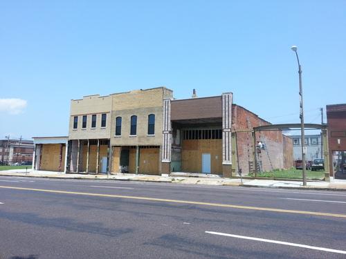 Series of Midtown Commercial Buildings Under Rehab (2900 Block of Olive)