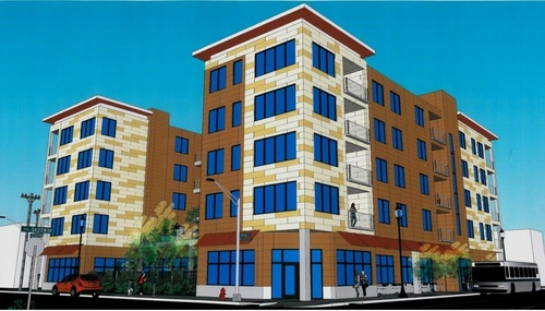 Five-Story, 55-Unit Mixed Use Building Proposed for the Grove (4400 Manchester)