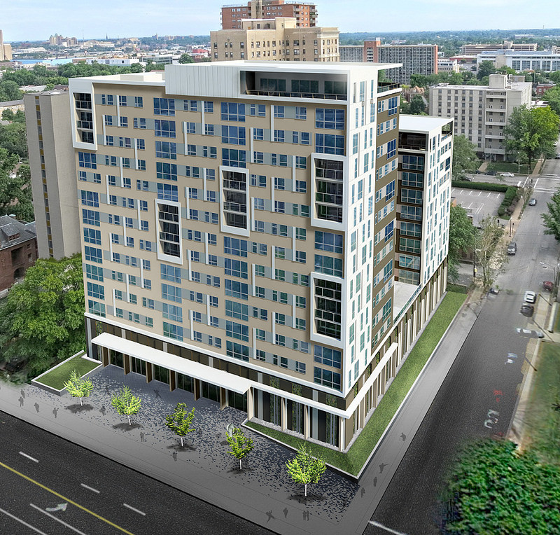 14 Story, 200 Unit Infill Proposed for Optimist Site in Central West End