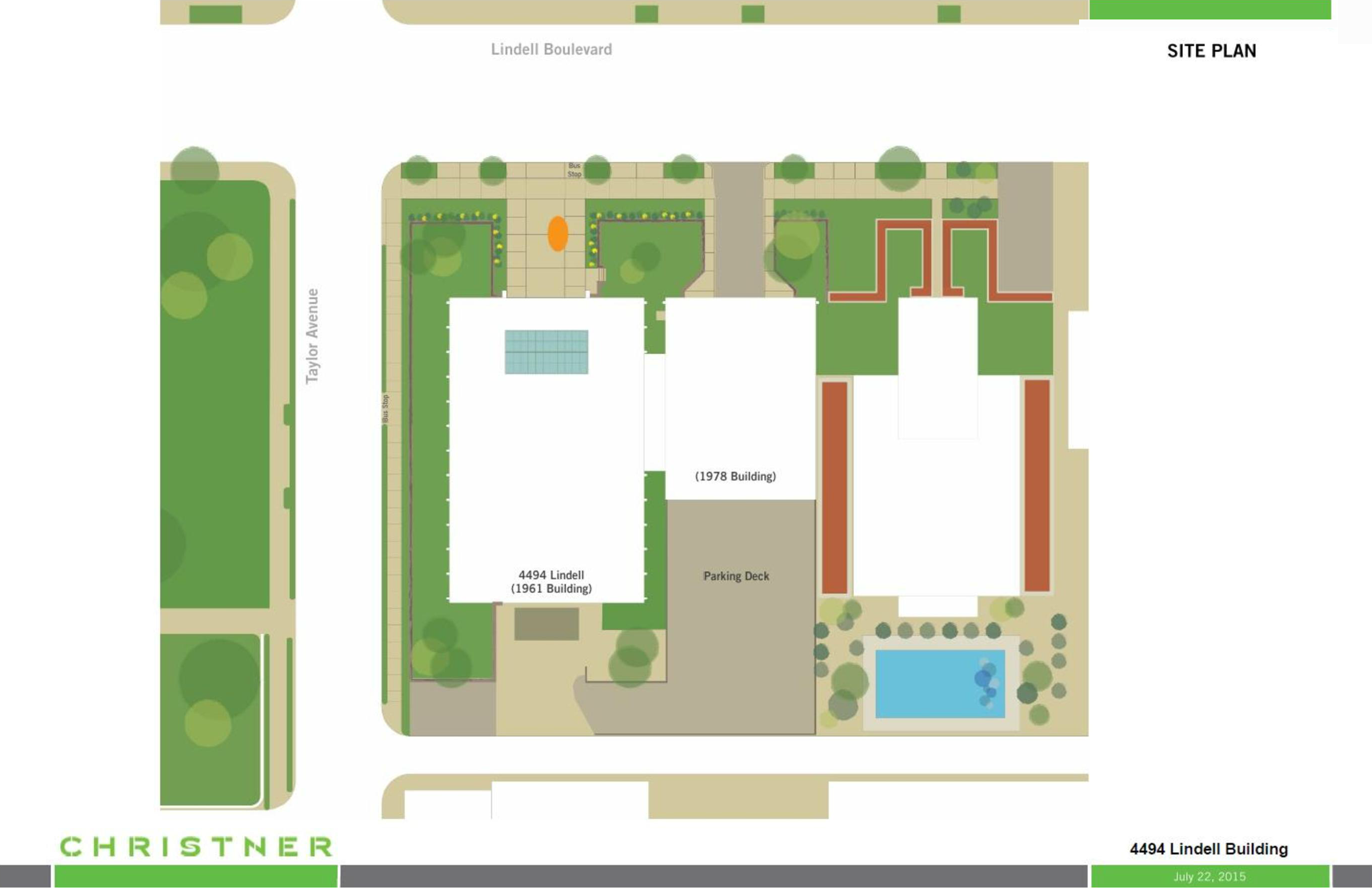 4490-94 Lindell site plan - St. Louis, MO