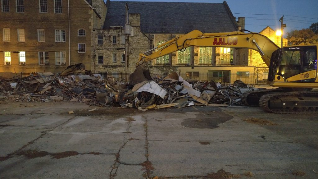 Demolished Church's chicken at Delmar & Skinker