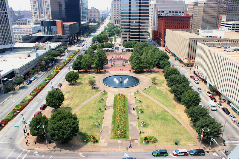 Kiener Plaza redesign - St. Louis, MO