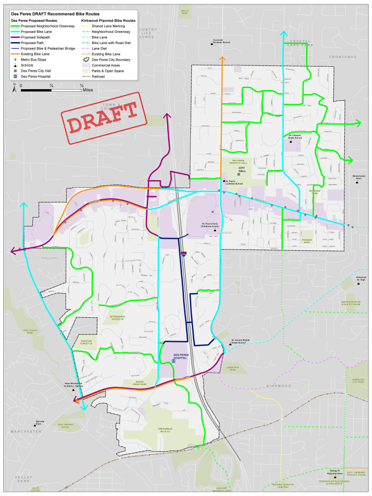 Des Peres, MO - bicycle plan by Trailnet