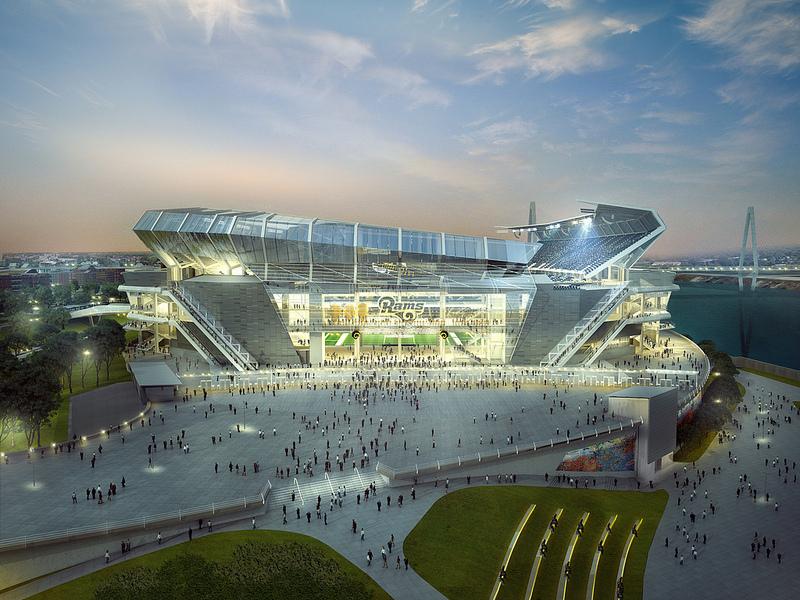 HOK Releases New Proposed St. Louis NFL Stadium Renderings