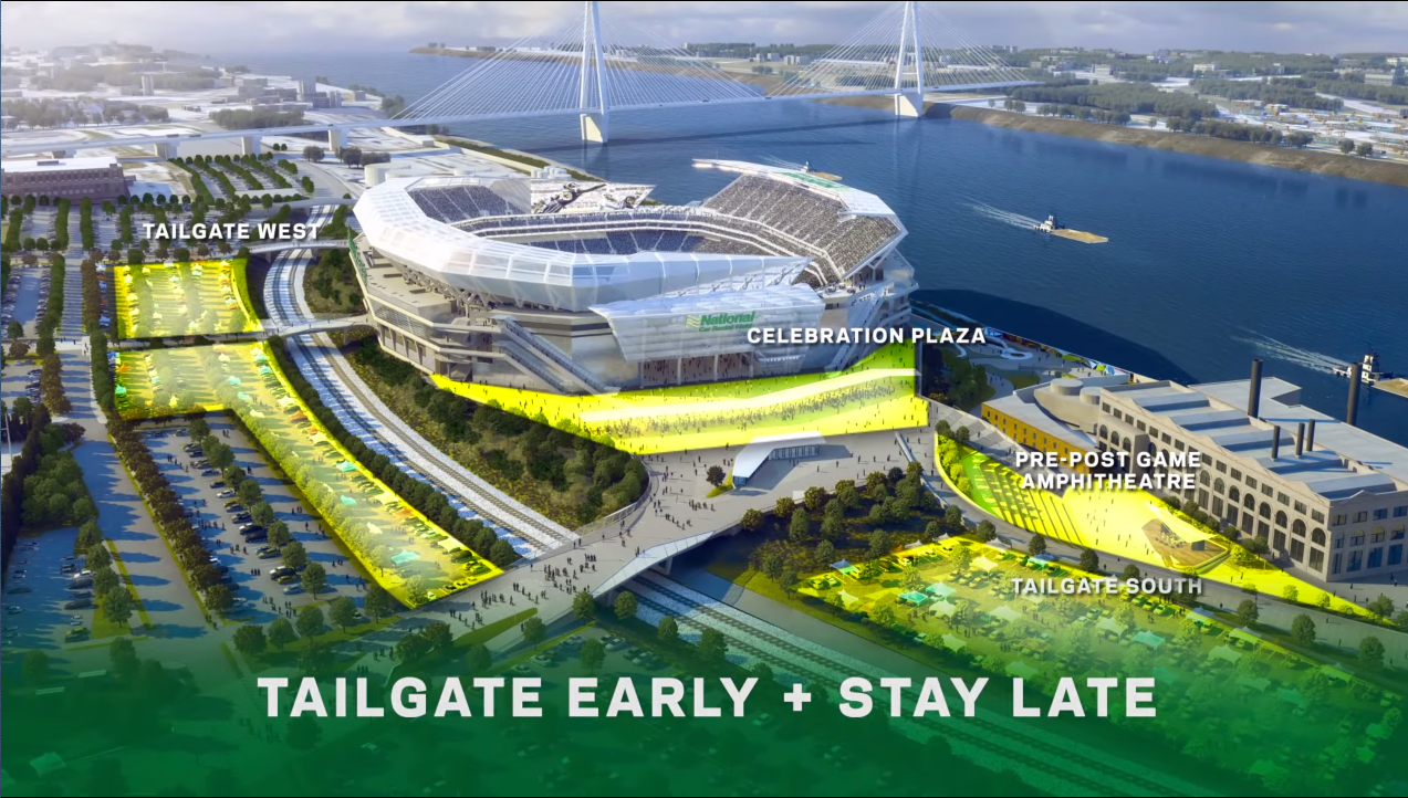 Proposed St. Louis riverfront NFL stadium video screenshot