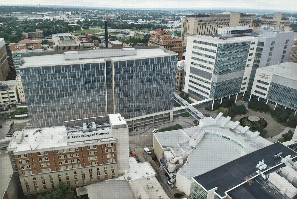 aerial rendering - BJC office building