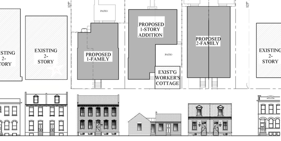 Plan Would Restore Antebellum Worker's Cottage, Add Infill in Benton Park