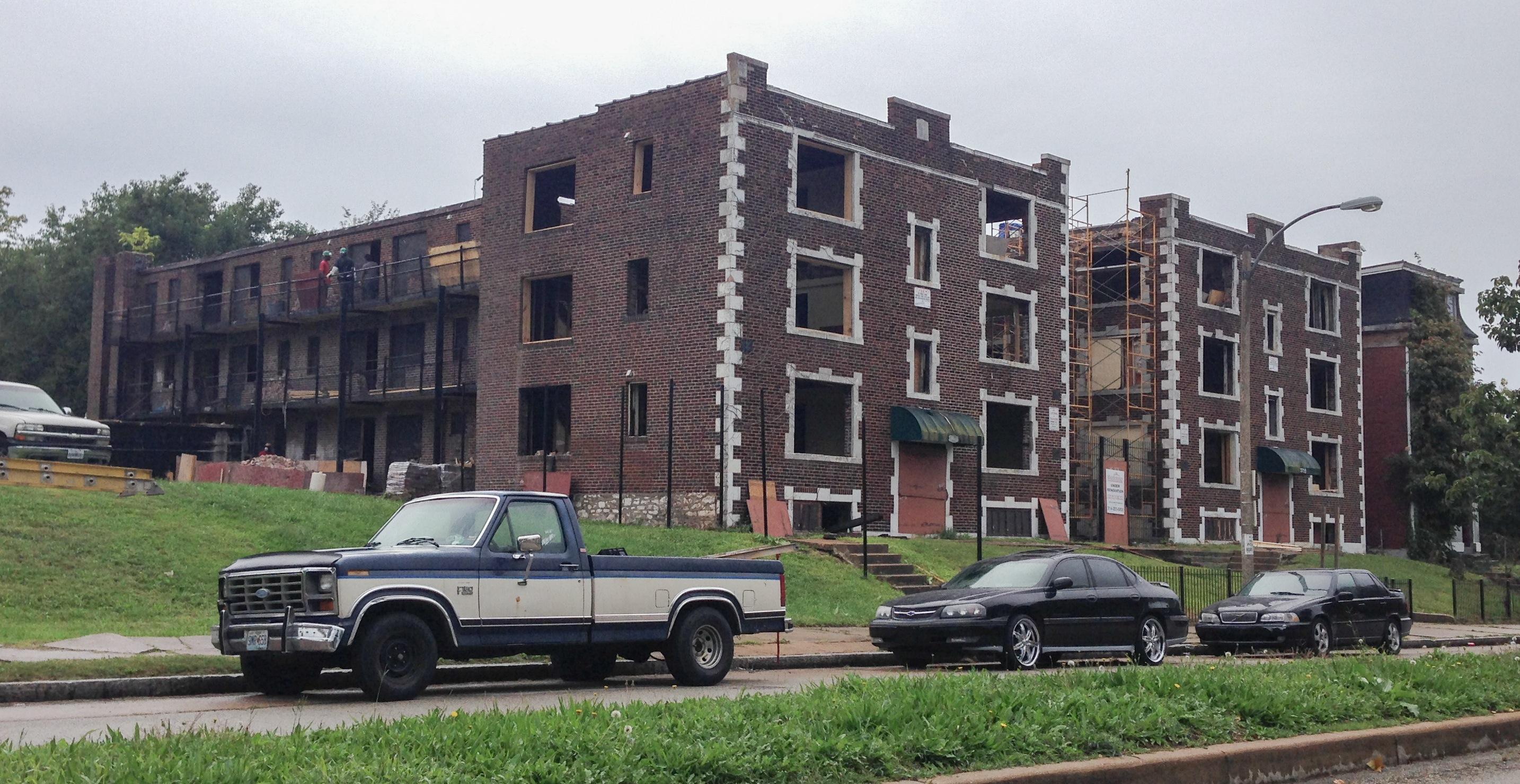 Apartment Block in Grand Center under Rehab (3718-22 Cook)