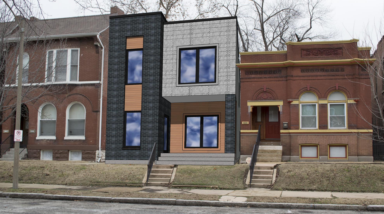 Plans Updated for Three New Single-Family Homes in Forest Park Southeast