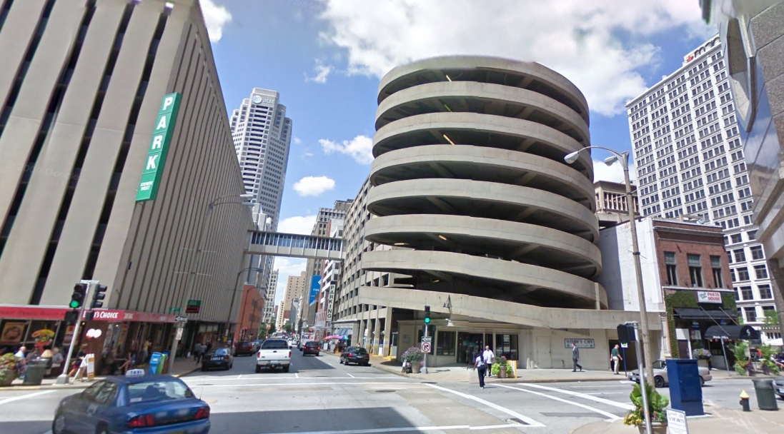 this downtown garage is art in itself, but could use some dressing up