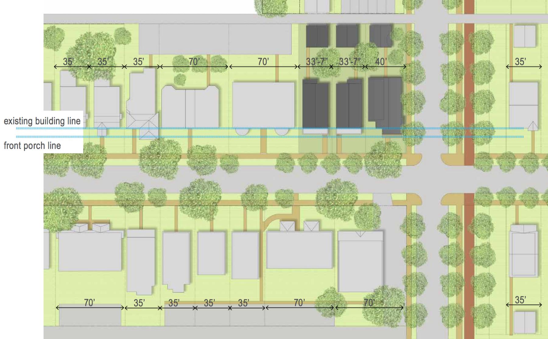 uic proposes three infill homes in city u0027s skinker debaliviere