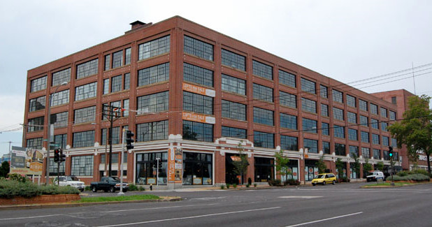 the former Ford Motor Company plant, within the CORTEX district, is now the West End Lofts
