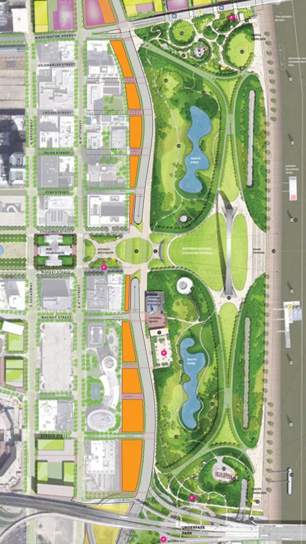City to River boulevard site plan