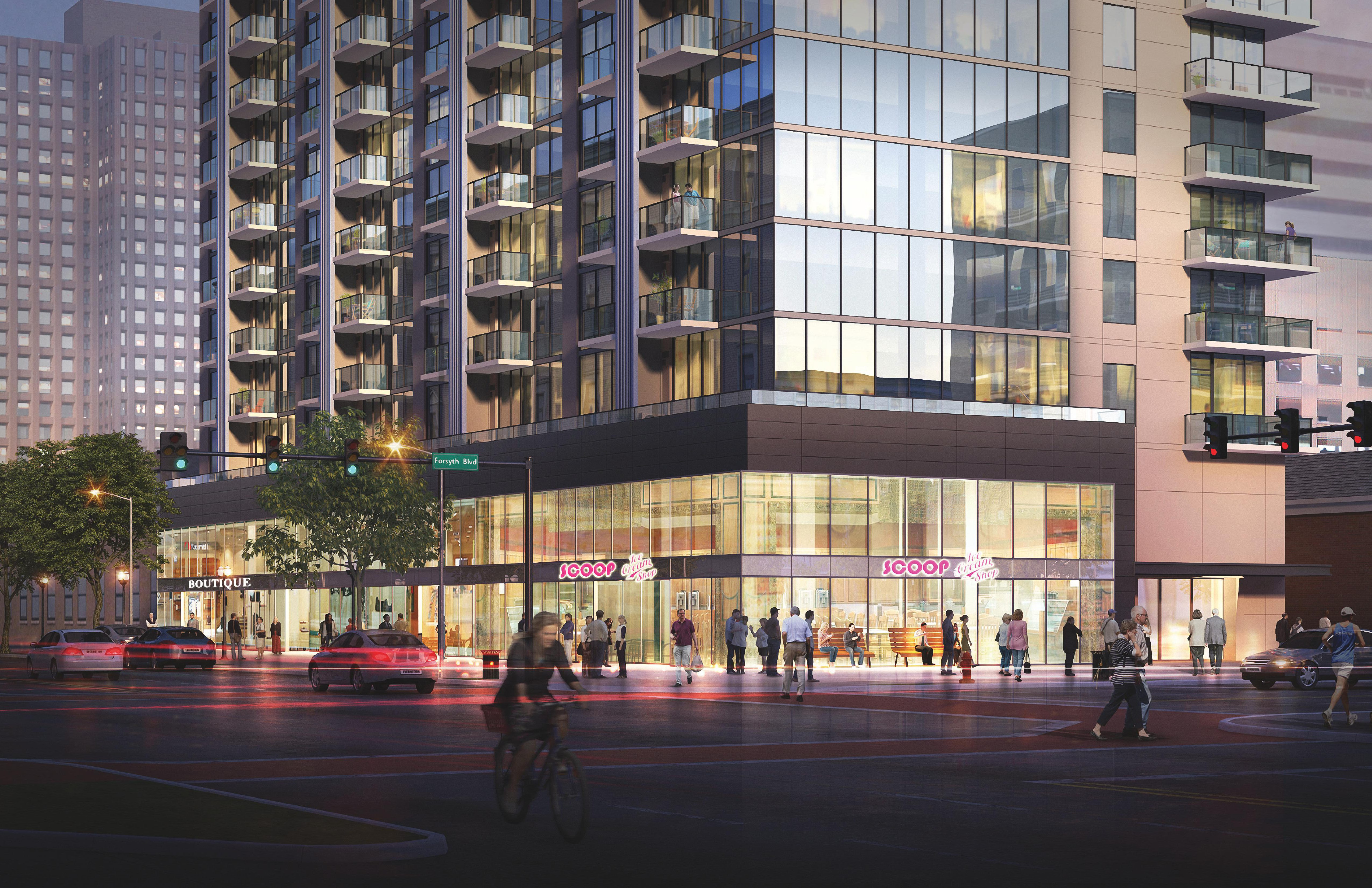 $70M, 24-Story, 264-Unit Mixed-Use Project Proposed for Downtown Clayton