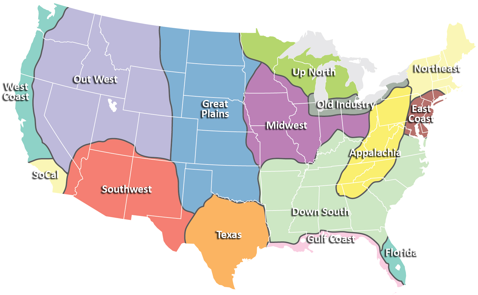 USA Places And Geographic Features Map Maps For The Classroom - Zone map of usa