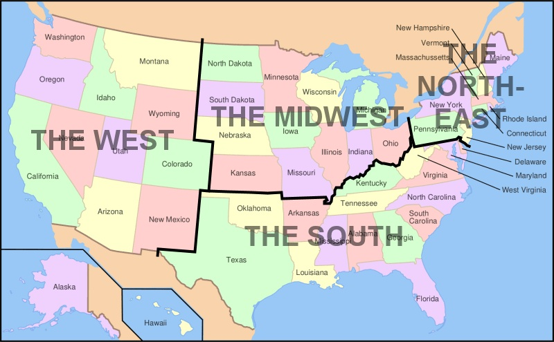 Midwestern United States Wikipedia USA Geography Quizzes Fun Map - 1800s us mid western states maps