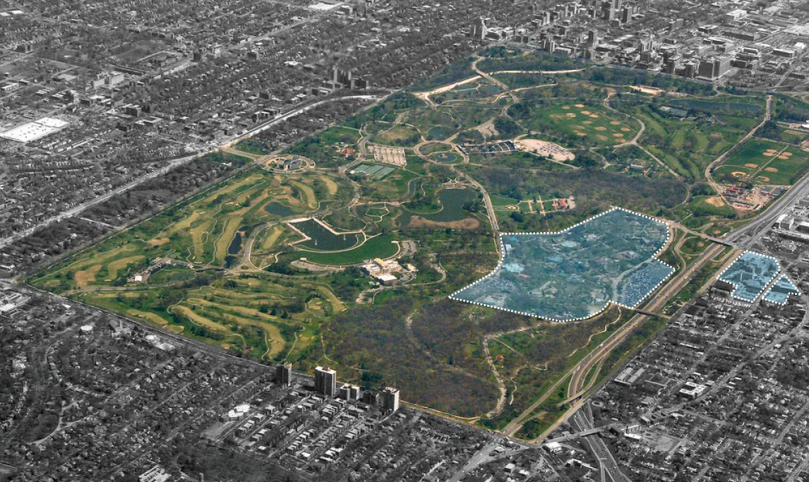 STL Zoo - Forest Park aerial image