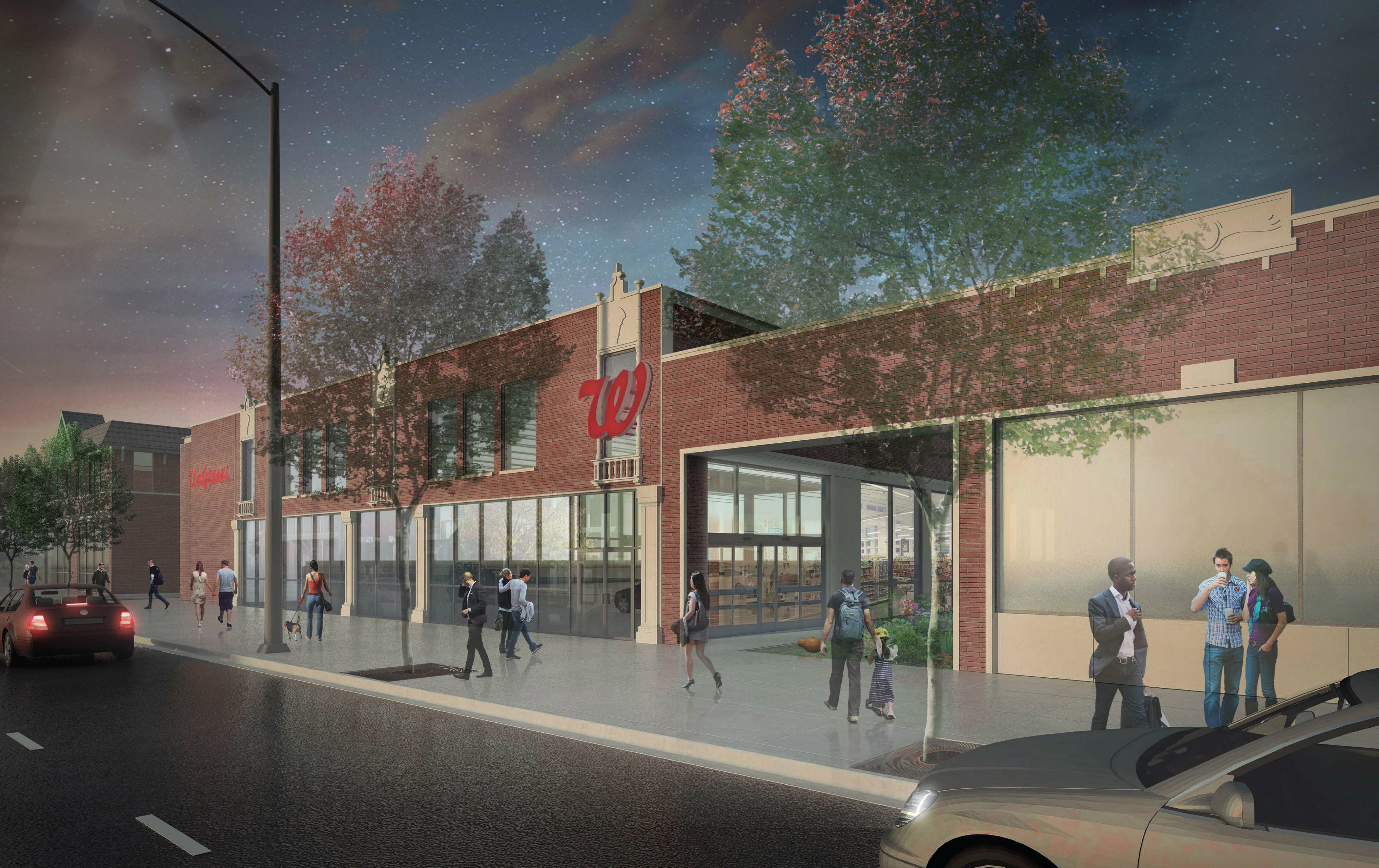 design tweaked bmo harris plan for southwest bank walgreens goes to review - Walgreens Garden City