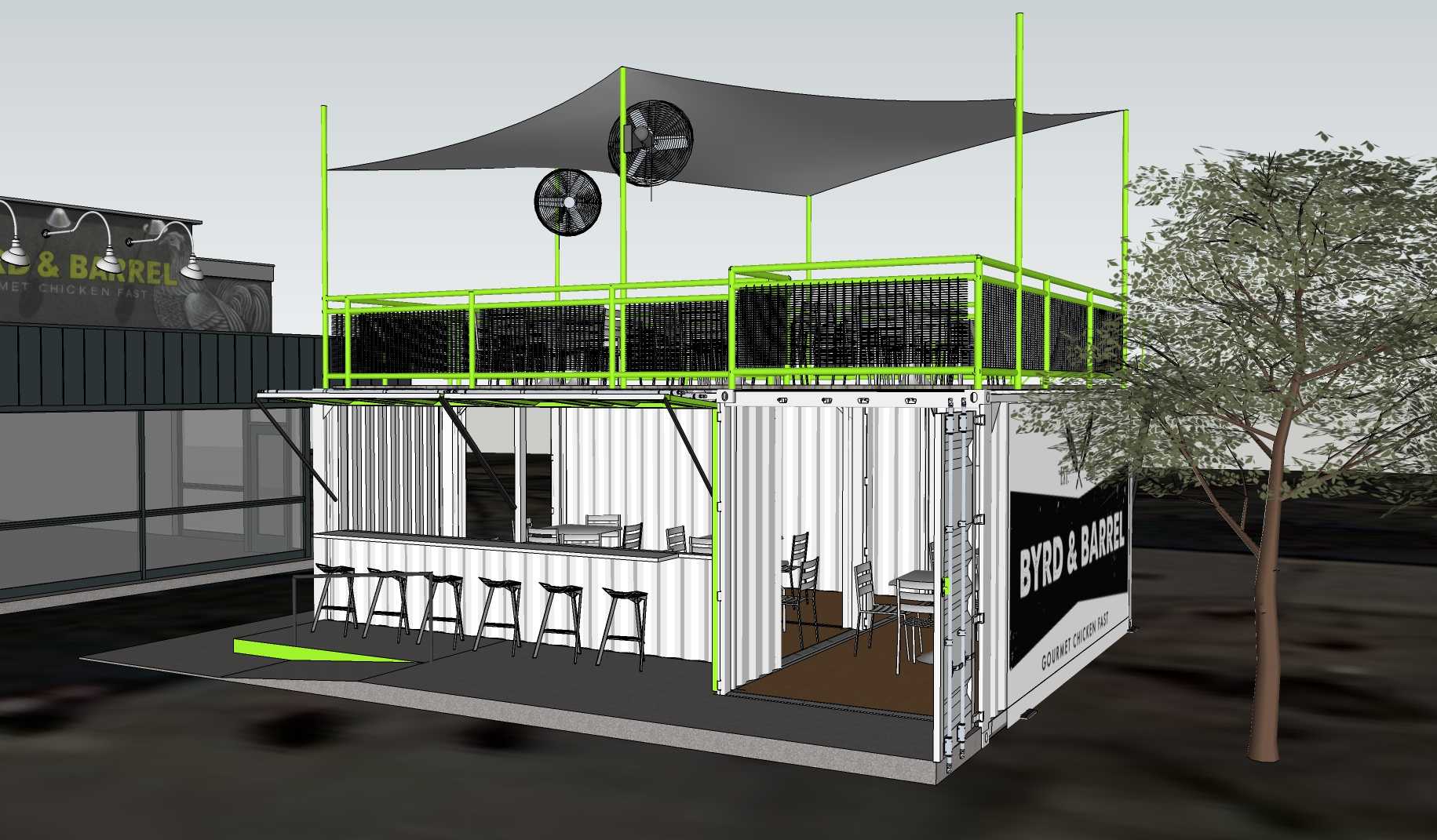 Byrd & Barrel Plans Expansion with Containerized Outdoor Seating