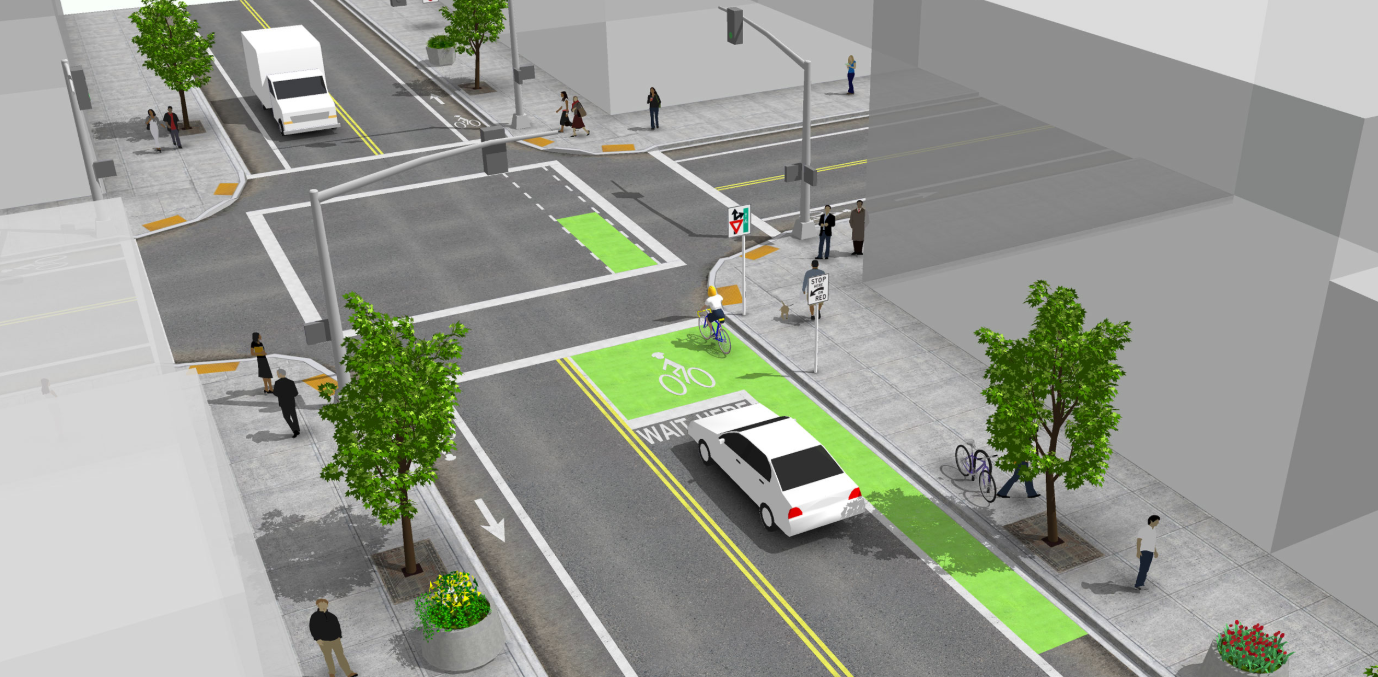 Bike Box Coming to Tower Grove and Vandeventer