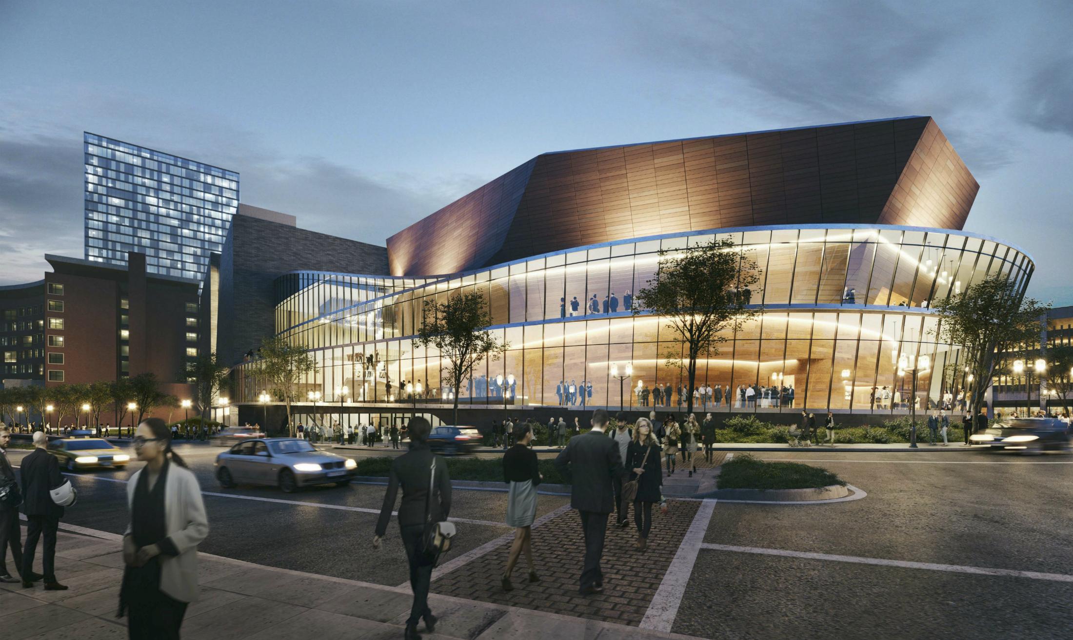 Centene Corporate Auditorium, Parking Garage Design Revisions Presented