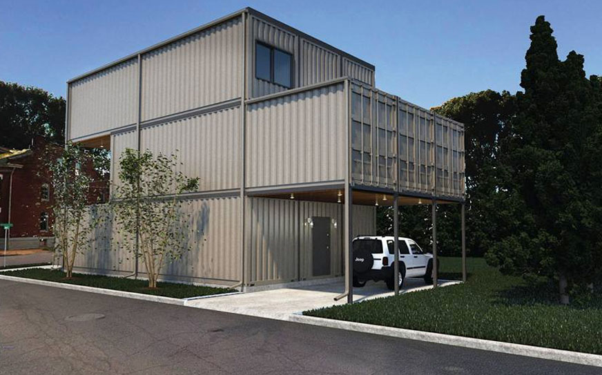 St. Louis City's First Shipping Container Home Planned in ... on custom frame homes, custom prefab homes, semi-trailers as homes, cargo homes, custom design homes, custom log home, custom house plans, custom cabins, custom motor homes, custom portable homes, isbu homes, custom trailer homes, custom steel homes, custom glass homes, custom dome homes, custom steel buildings, most affordable modular homes, custom box homes, tornado resistant homes, custom wood homes,