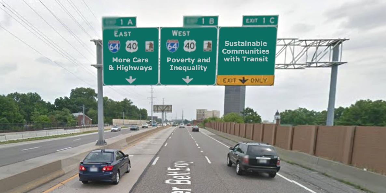 County I-170 sign